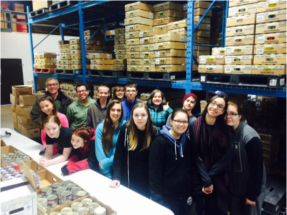 SGHS Students at the St Albert Food Bank